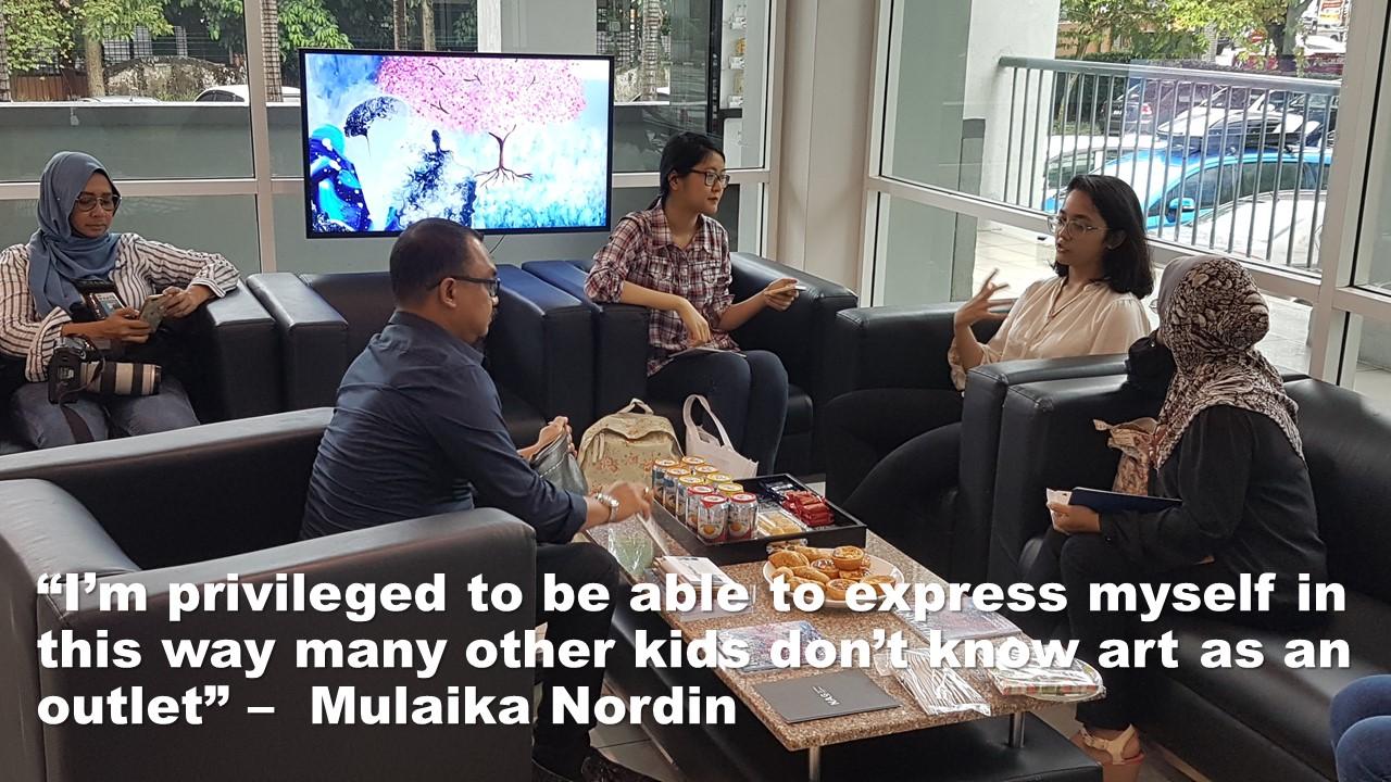 Mulaika Nordin – Tomorrow's Leaders Summit – Meet the Artist 2